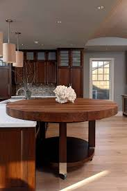 dining room decorations butcher block island table throughout round kitchen architecture 8