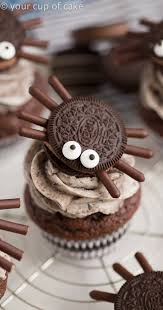 halloween spider cupcakes.  Spider How To Make Halloween Oreo Spider Cupcakes Inside E