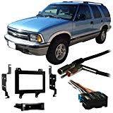 amazon com stereo install dash kit chevy blazer s10 95 96 97 car fits chevy s 10 blazer 95 97 double din stereo harness radio install dash