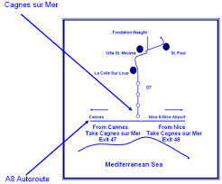 Nice Airport Charts Villa St Maxime Maps Mileages And Directions