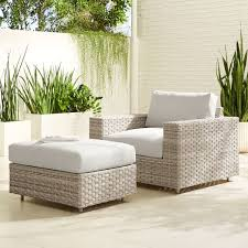 urban outdoor lounge chair ottoman set