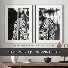 african wall art set set of 2 prints