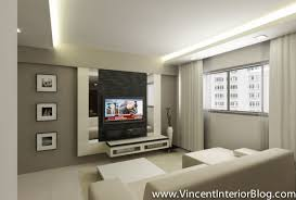 Living Room Tv Console Design Woodland 4 Room Hdb Renovation By Behome Design Concept Final