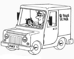 Small Picture Postman Pat Ride His Royal Mail Car Coloring Pages Postman Pat