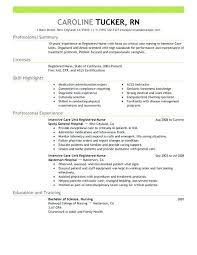 Registered Nurse Resume Objective Nursing Spacesheep Co