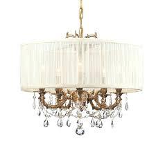 drum shade chandelier 5 light brass mini saw drum shade chandelier