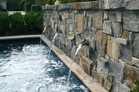 stone wall fountain garden water outdoor slate uk