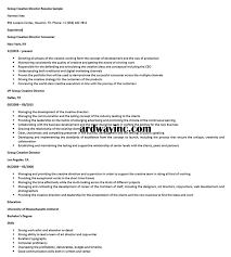 Group Creative Director Resume Sample Resume Builder