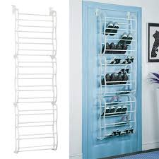 white 36pair over the door shoe rack wall hanging closet organizer storage stand 1 of 11free see more
