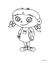 Small Picture Smiling annie little einsteins coloring pages Hellokidscom