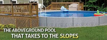 Delighful Big Above Ground Pools Radiant Pool Ny Aboveground With Deck Inside Innovation Design