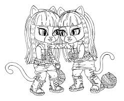 13 Monster High Coloring Pages Printable Print Color Craft