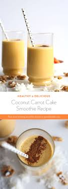 Coconut Carrot Cake Smoothie Recipe GreenBlender