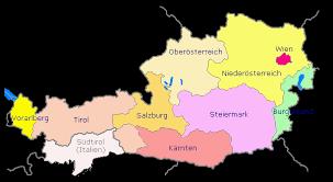 Carte touristique de l'autriche (1932) • plan de la ville de vienne en autriche et ses environs, par nicolas sanson (1692) • plan von wien: Carte Des Regions De L Autriche Lexilogos