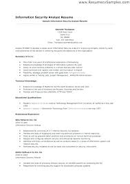 Security Engineer Resume Unique Information Security Resume Rabotnovreme