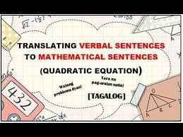 translating verbal sentence to