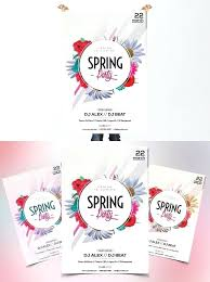 Spring Event Flyer Spring Event Flyer Template Spring Fling Ticket Template Spring
