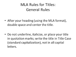 MLA Paper Guidelines   Citations MLA   d