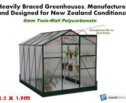 greenhouse polycarbonate 2 5m x 1 9m 6mm