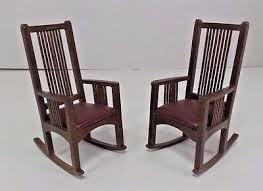 miniatures dollhouse furniture. miniature dollhouse furniture mission shaker craftsman rocking chairs set miniatures t