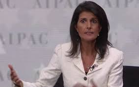 Image result for Nikki Haley's Outburst at UN Being Described as 'Biblical'