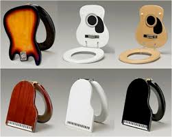 Jammin' Johns Are Guitar & Keyboard Toilet Seats