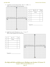 graphing linear equations with function tables worksheet kidz