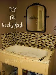 How To Install A Mosaic Tile Backsplash - Tile backsplash in bathroom