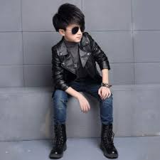 senarai harga new fashion spring girls boys leather jacket coat autumn fashion kids solid full sleeve outerwear jacket terbaru di malaysia