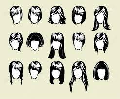 大きな髪型コレクションのイラスト素材ベクタ Image 18117673