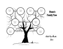 Black Basic Family Tree Template Word Free Download Templates Three ...