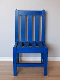 Royal Blue Chair After