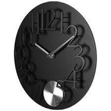 Wonderful Reloj De Pared Péndulo Negro