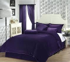 purple velvet bedroom collection luxury solid purple soft velvet comforter by bed in a bag set purple velvet bedroom