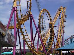 denver the boomerang is one of the coasters at elitch gardens theme park in denver