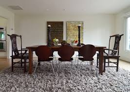 image of wool rug under dining room table