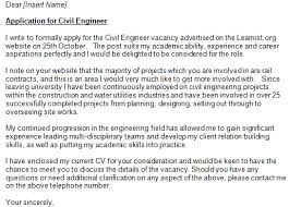 Cover Letter Examples For Civil Engineering Jobs