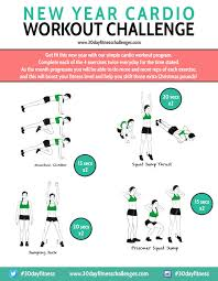 new year cardio workout 30 day challenge the body department