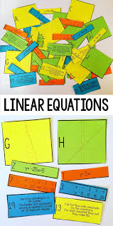 linear equation card match slope intercept form
