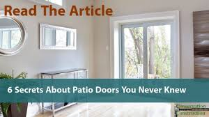 6 secrets about patio doors you never