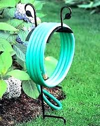 decorative hose holder garden stakes wrought iron interior design stake h astonishing for the free