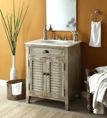 barnwood bathroom vanity astounding barrel wooden single rustic vanities  with brick wall panels also barn