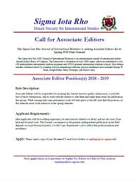 Looking For Editing And Writing Experience The Sigma Iota