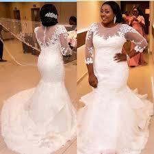 2017 African Nigerian Mermaid Wedding Dresses 2017 New Long