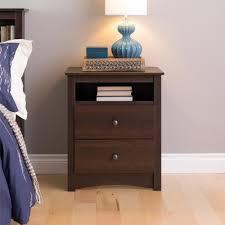 open shelf nightstand. Interesting Nightstand Prepac Fremont 2Drawer Espresso Nightstand To Open Shelf E