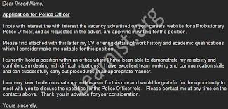 police officer cover letter example view more job application letters police officer cover letters