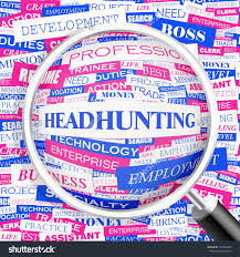 headhunting word cloud concept illustration  save to a lightbox