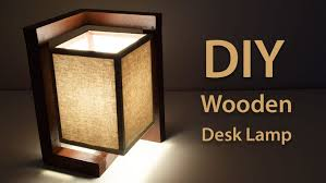 lighting diy. How To Build A Wooden Desk Lamp DIY Project Featured Lighting Diy