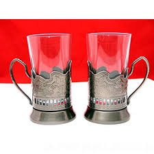 set of 2 old fashioned tempered hot tea glass cup 10 oz russian metal glass holder