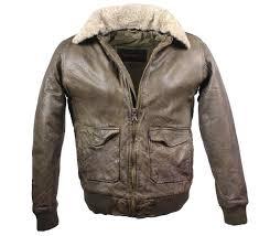 leather jacket pilot style lambskinleather olive mens fashionable leatherjacket